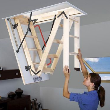 Fakro Wooden Folding Loft Ladder in Harrogate