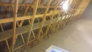 Loft shelving and lighting in North Yorkshire
