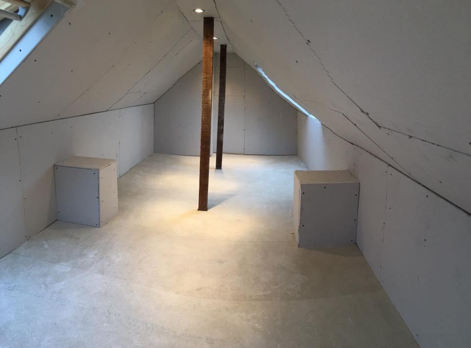 Mid-completion loft conversion