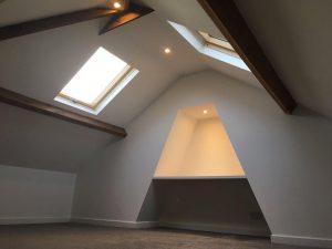 Finished mini loft conversion
