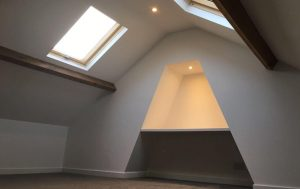 Finished mini loft conversion in Wakefield
