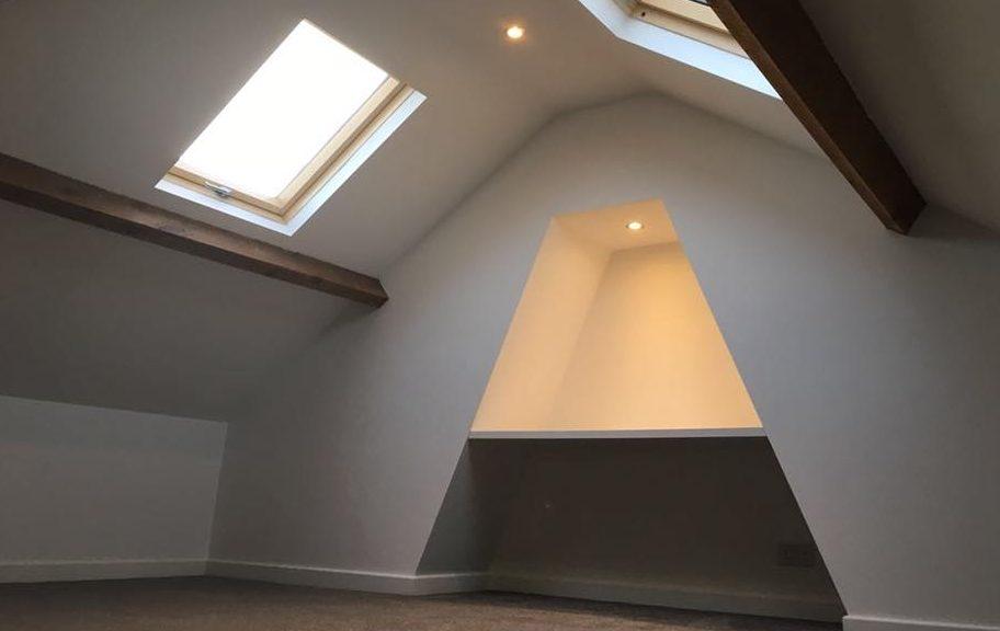 Finished mini loft conversion in Wakefield