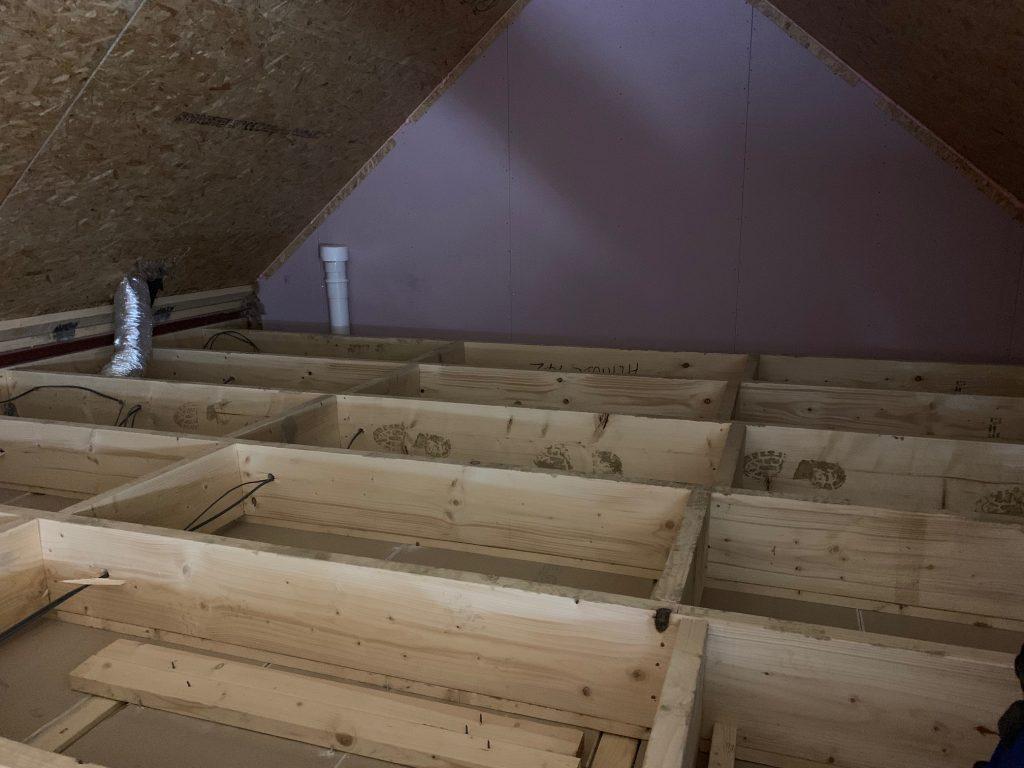 Loft boarding installation in Castleford 1