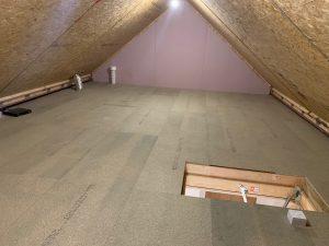 Loft boarding installation in Castleford 3