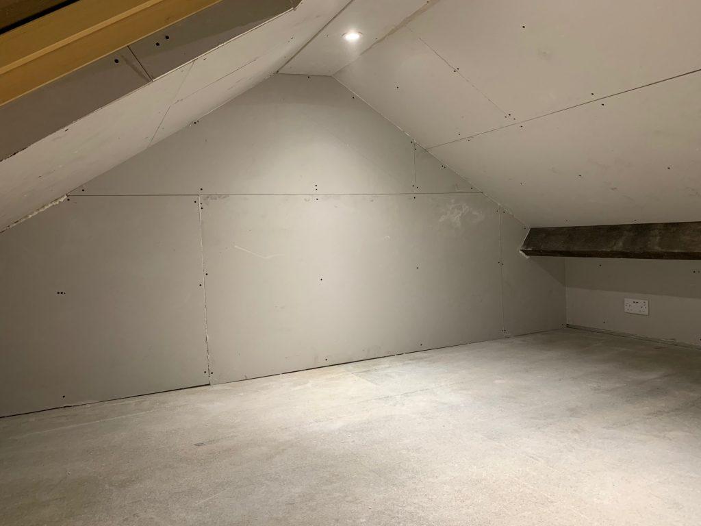 Plasterboarded Loft in Pensitone