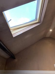 Skylight in mini loft conversion