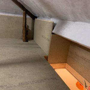 Loft boarding for Mini Cinema in Loft conversion