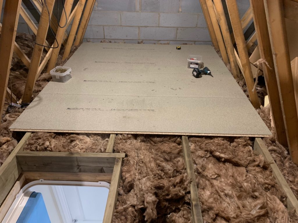 Securing the boarding to the joists